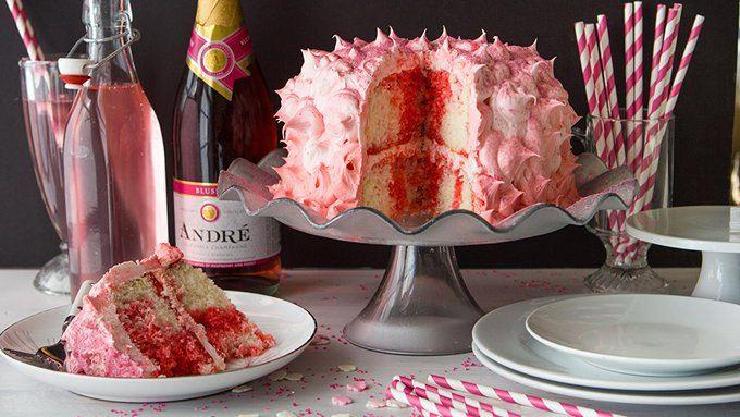 Pink Champagne Pound Cake