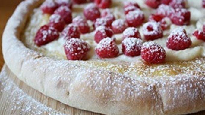 Raspberry-Mascarpone Pizza recipe - from Tablespoon!