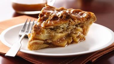 Caramel-Apple Streusel Pie
