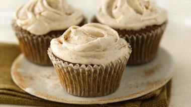 Ginger-Spice Cupcakes with Cream Cheese Frosting (White Whole Wheat Flour)