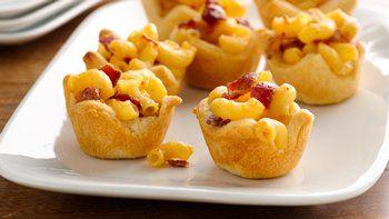 Mini Mac and Cheese Crescent Cups