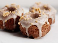 Baked Chocolate Doughnuts with Maple Glaze