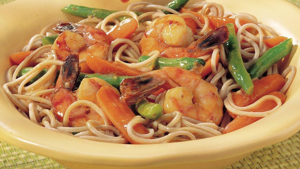 Japanese Shrimp and Soba Noodles