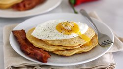 Bacon and Red Chili Pancakes