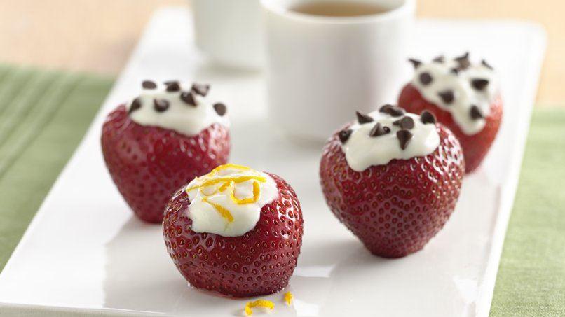 Yogurt Filled Strawberries