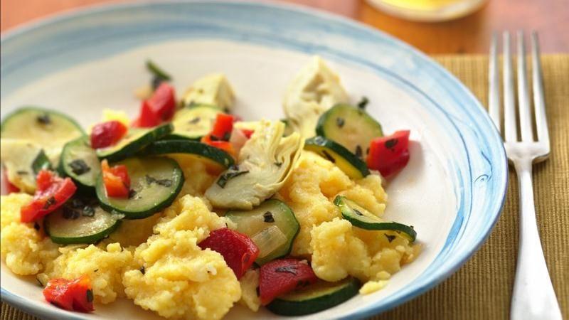 Polenta with Italian Vegetables