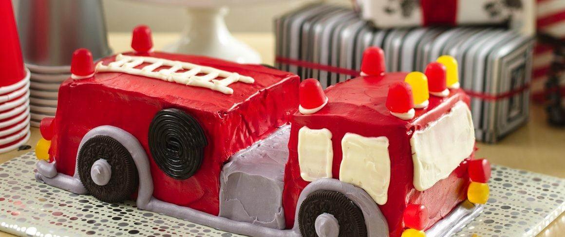 Fire Engine Cake recipe from Betty Crocker
