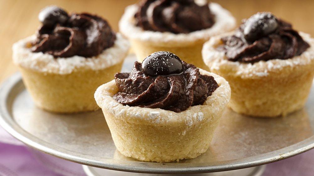 Mocha Hazelnut Truffle Tartlets