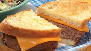 Grilled Cheddar Burgers