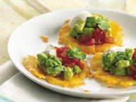 Guacamole-Cheese Crisps