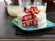 Strawberry-Lime Daiquiri Poke Cake