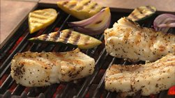 Grilled Sea Bass with Citrus-Olive Oil