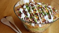 Chipotle Chicken-Bacon-Ranch Layered Salad
