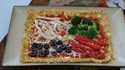Pizza de Coliflor con Pavo y Verduras