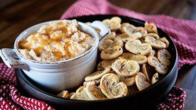 Warm Salted Caramel Apple Dip with Cinnamon Roll Cookies