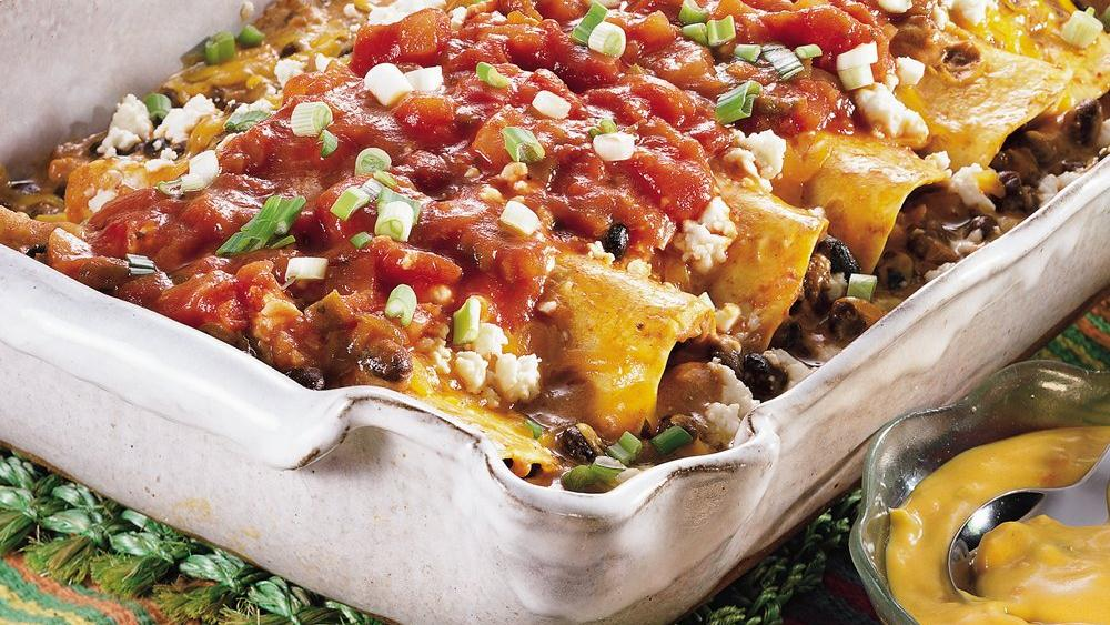 Black Bean Enchilada Casserole recipe from Pillsbury.com