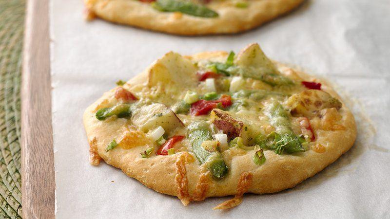 Garden Vegetable Personal Pizzas
