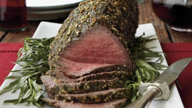 Tarragon-Crusted Roast Beef