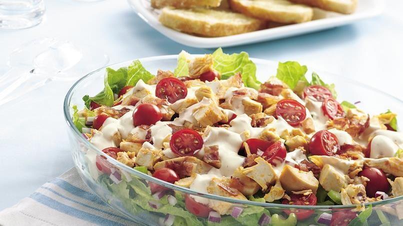 Buffalo Chicken Layered Salad