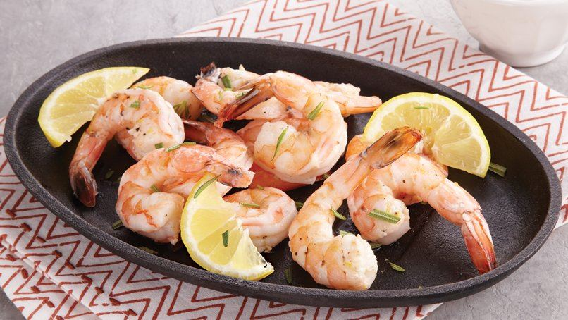 Roasted Shrimp with Bloody Mary Sauce