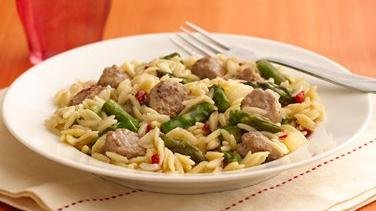Asparagus and Turkey Sausage Skillet