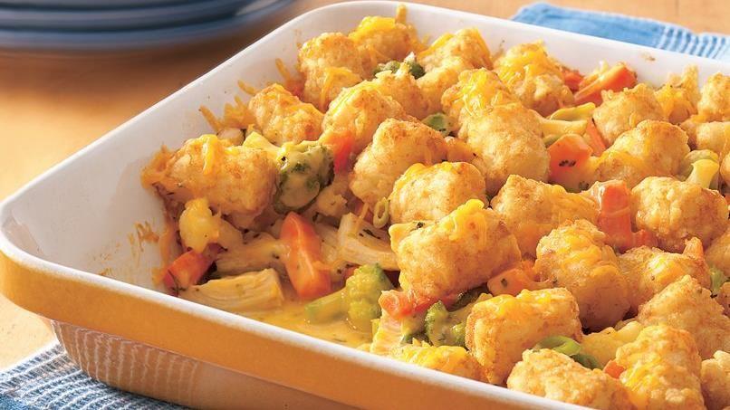 Cheesy Tater-Topped Chicken Casserole