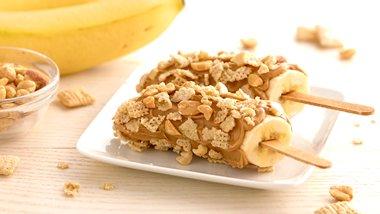 Gluten-Free Peanut Butter-Banana Pops