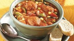 Slow-Cooker Meatball-Bean Stew