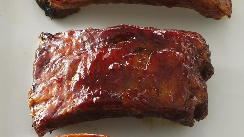 Back Ribs with Sweet-Savory Sauce