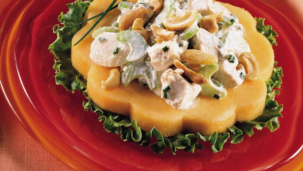 Chicken Salad on Melon Rings