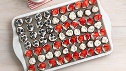 Mini Chocolate Cupcakes Flag