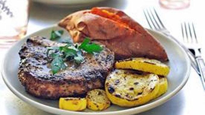 Boozy Pina Colada Grilled Pork Chops