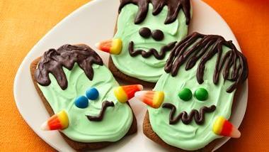 Ginger Frankenstein Cookies