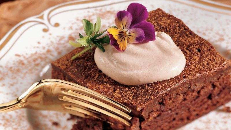Chocolate Mousse Brownie Dessert recipe from Betty Crocker