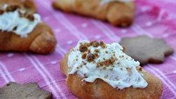 Cuernitos con Chocolate Blanco y Galletas de Jengibre