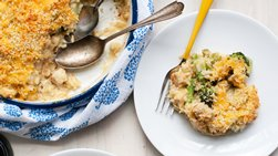 Cheesy Brown Rice, Broccoli and Chicken Casserole
