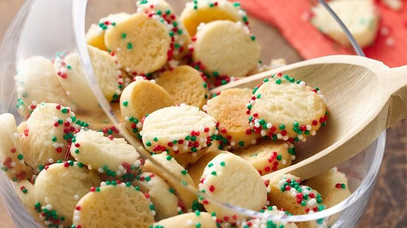 Mini Christmas Confetti Sugar Cookies