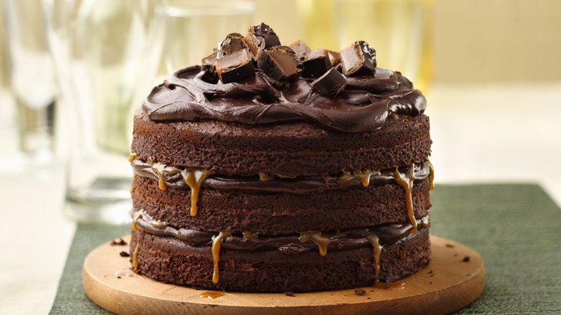 Two Layer Chocolate Cake From Scratch