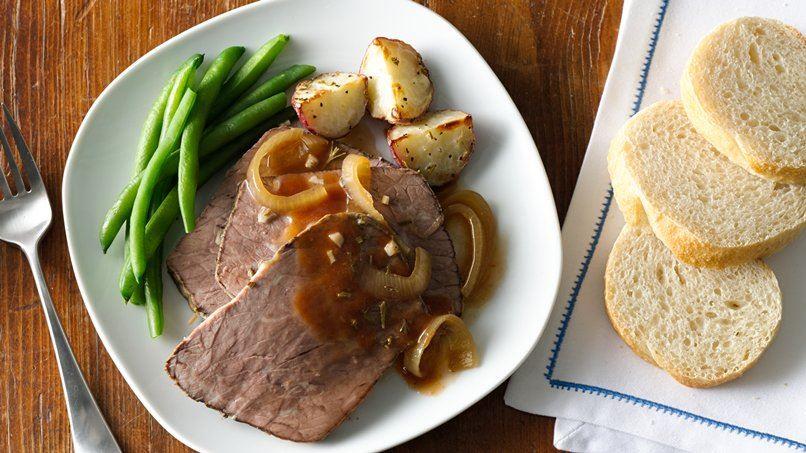 Slow-Cooker Rosemary-Garlic Beef Roast