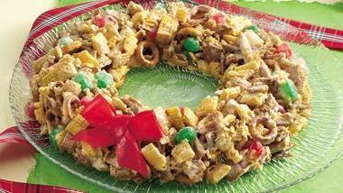 Festive Chex Mix® Wreath