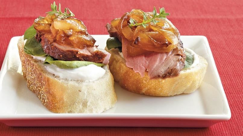Beef and Caramelized Onion Canapés