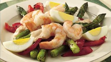 Shrimp and Fresh Asparagus Salad