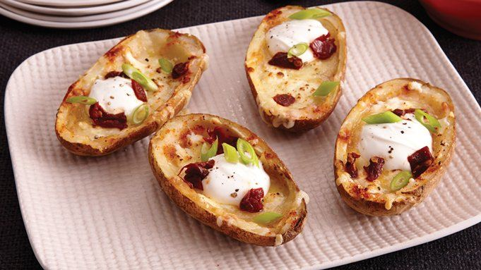 Three-Cheese Potato Skins recipe - from Tablespoon!