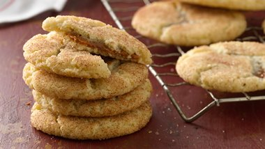 Salted Caramel-Stuffed Snickerdoodles