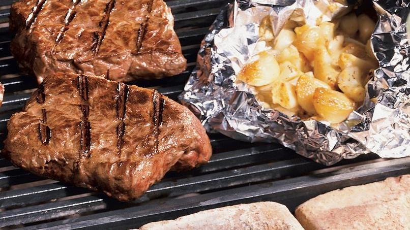 Garlic-Dijon Topped Steaks