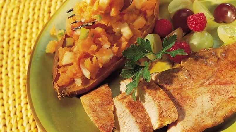 Pork with Stuffed Sweet Potatoes
