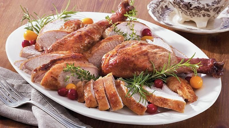 Cranberry-Orange Glazed Turkey