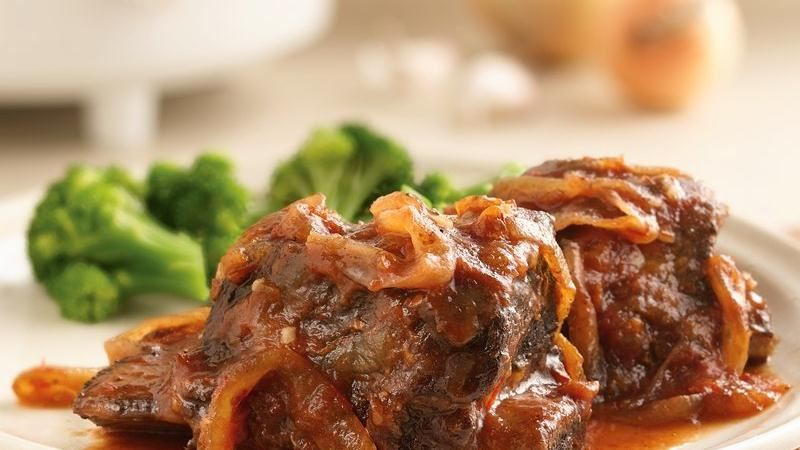Slow-Cooker Sweet and Tangy Short Ribs recipe from Betty Crocker