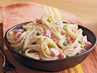 Slow-Cooker Cheesy Ham and Noodles