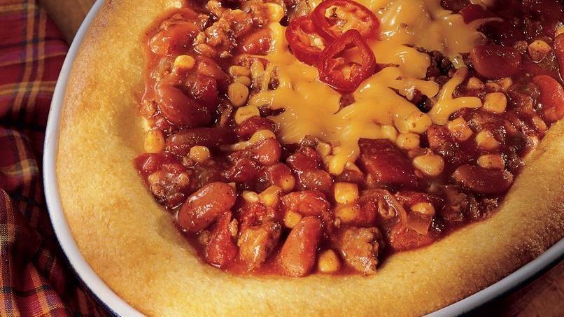 Chili Casserole With Cornbread